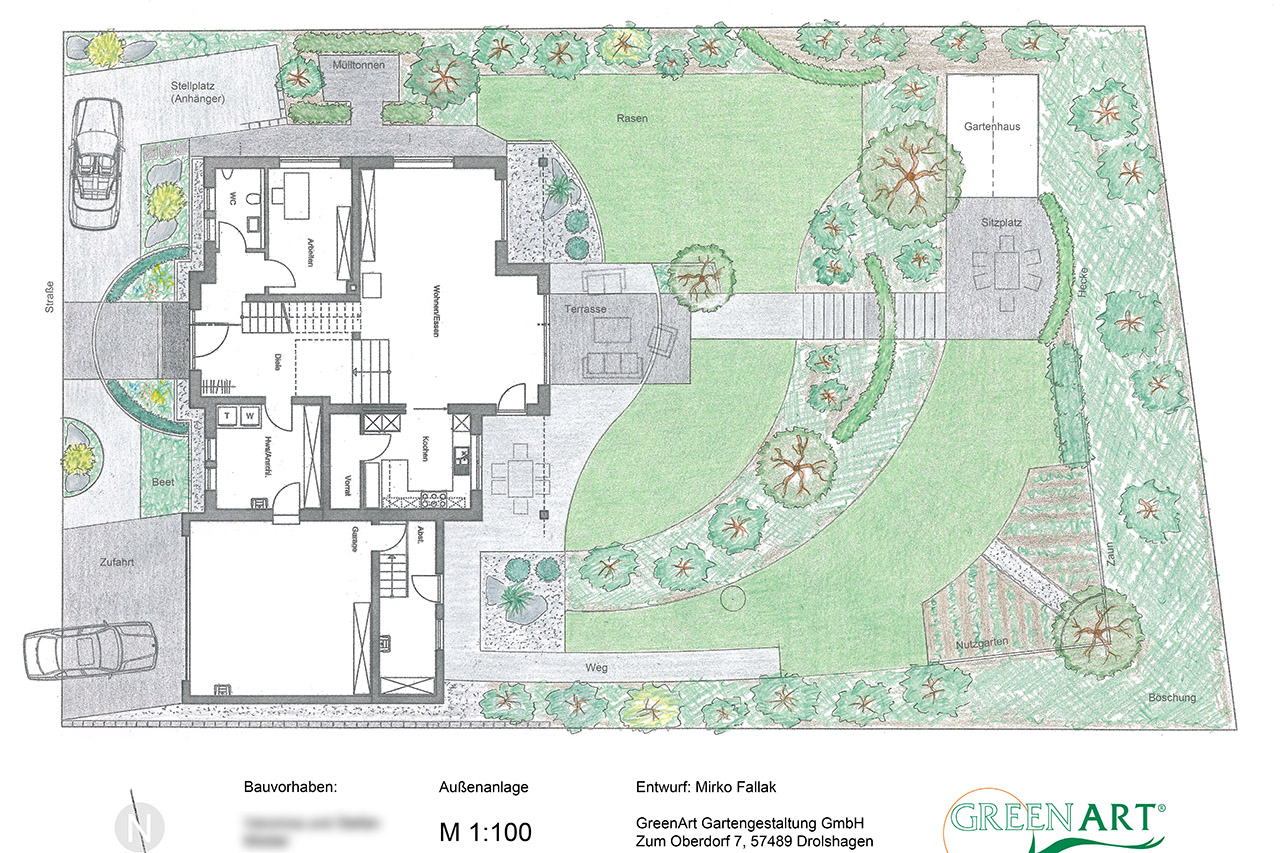 Gartenplan  Greenart - Gartenplan 25