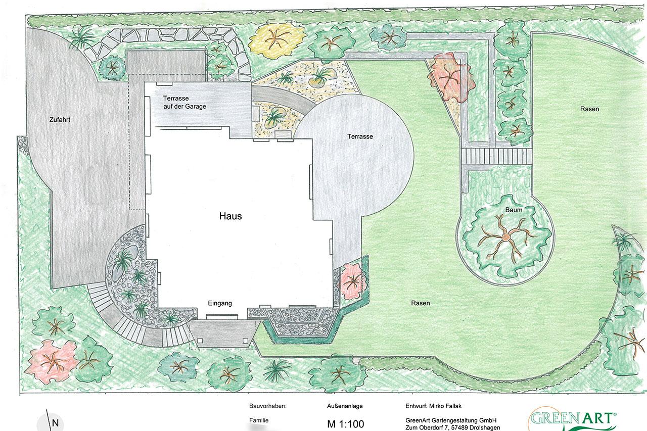 Gartenplan  Greenart - Gartenpläne