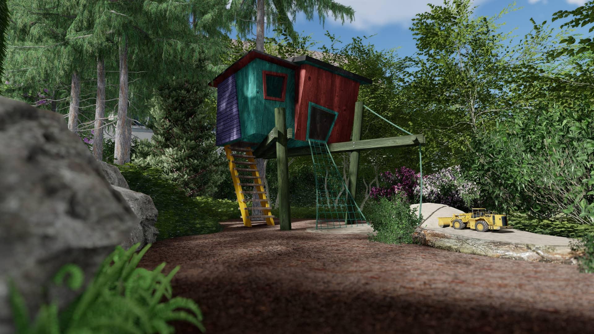 Spielplatz Baumhaus Wald